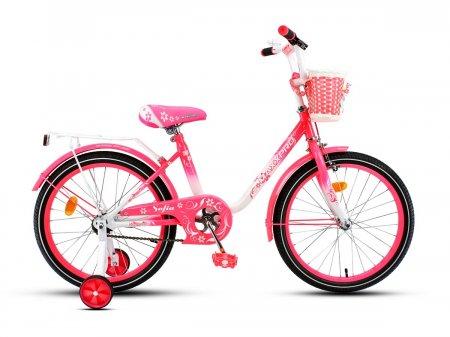 Велосипед SOFIA-M20-5 (Бело-розовый)