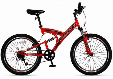 Велосипед SENSOR 24 N2410-1 (красно-чёрный)